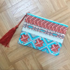 Handbags - Beaded & Embroidered Clutch